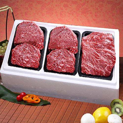M [영주암소한우] 정육세트4호(fresh) 국거리용600g+불고기용600gx2팩