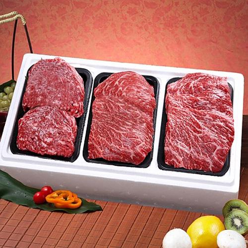 M [영주암소한우] 정육실속세트6호(fresh) 국거리용400g+불고기용400g+ 장조림용400g