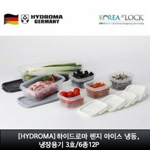 M [HYDROMA] 하이드로마 렌지 아이스 냉동, 냉장용기 3호/6종12P