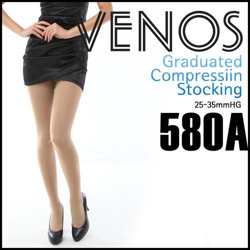 M [VENOS] 베노스 무광택 팬티형 압박스타킹_발가락노출형 25-35mmHG 360데니아 압박스타킹/No.580A