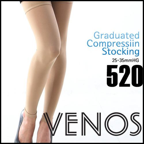 M [VENOS] 베노스 무광택 밴드(허벅지형) 압박스타킹_레깅스형 25-35mmHG 360데니아 압박스타킹/ No.520