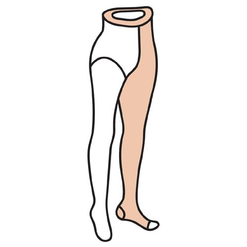 M [Doktus] 덕터스 단단한재질 한쪽다리 벨트형 한짝 CCL3 (압력 40-50mmHg) 발가락오픈형