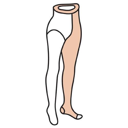 M [Doktus] 덕터스 단단한재질 한쪽다리 벨트형 한짝 CCL2 (압력 30-40mmHg) 발가락오픈형
