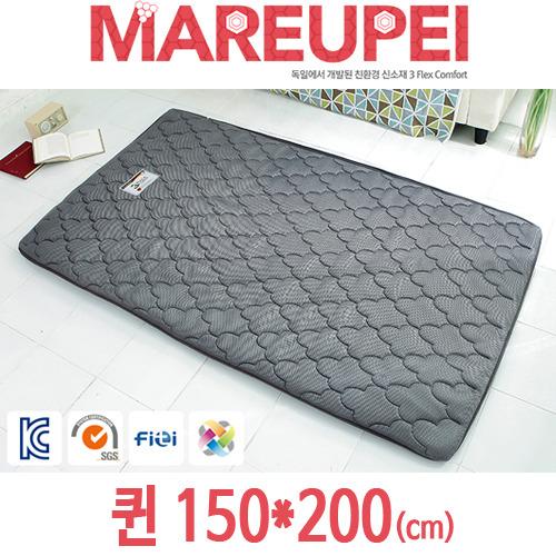 M [MAREUPEI] 마르페이 3D매쉬 에어매트리스 그레이 6cm 퀸 150*200(cm)