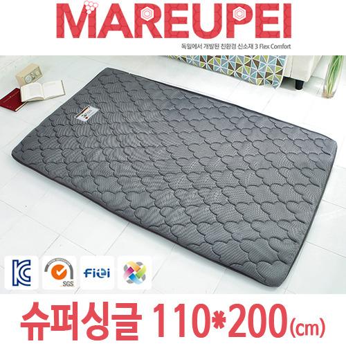 M [MAREUPEI] 마르페이 3D매쉬 에어매트리스 그레이 6cm 슈퍼싱글 110*200(cm)