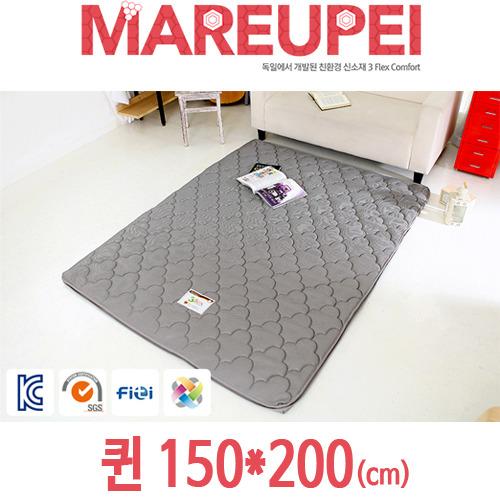 M [MAREUPEI] 마르페이 3D매쉬 에어매트리스 그레이 4cm 퀸 150*200(cm)