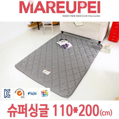 M [MAREUPEI] 마르페이 3D매쉬 에어매트리스 그레이 4cm 슈퍼싱글 110*200(cm)