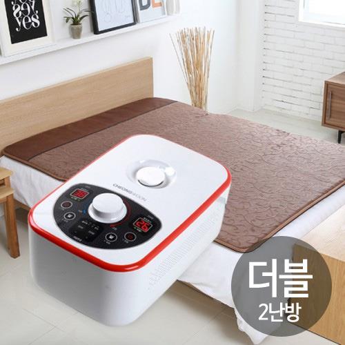M [청운산업] 청운 넝쿨 브라운 온수매트 더블2난방(200*145cm)