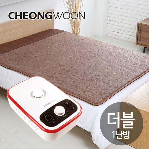 M [청운산업] 청운 넝쿨 브라운 온수매트 더블1난방(200*145cm)