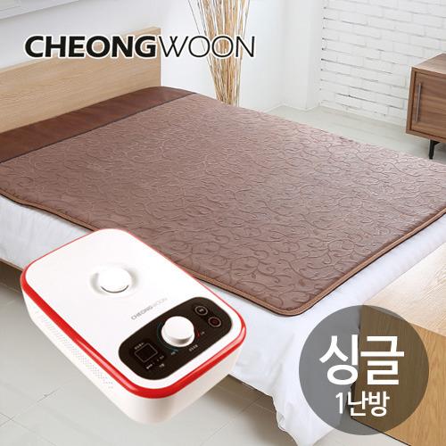 M [청운산업] 청운 넝쿨 브라운 온수매트 싱글1난방(200*100cm)