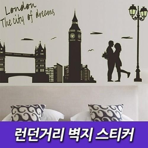 M [인테리어소품] 런던거리 벽지 스티커