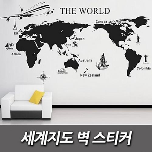 M [인테리어소품] 세계 지도 벽 스티커
