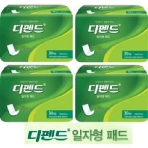 M [유한킴벌리] 디펜드 안심 일자형패드 OC 30매입/6팩 (180매입)