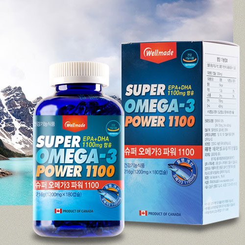 M [웰메이드] 슈퍼 오메가3 파워 1100 180캡슐