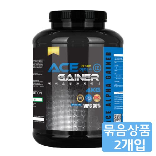 M [헬스보충제/단백질보충제] 에이스알파 게이너(4kg)*2개묶음