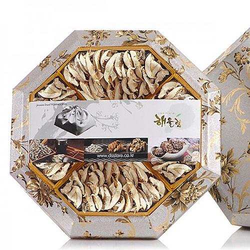 M [해울림] 버섯세트 팔각한지함 1호 선물세트 (표고슬라이스 90g x 4ea)