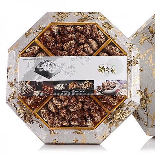 M [해울림] 버섯세트 팔각한지함 3호 선물세트 (화 고 110g x 4ea)