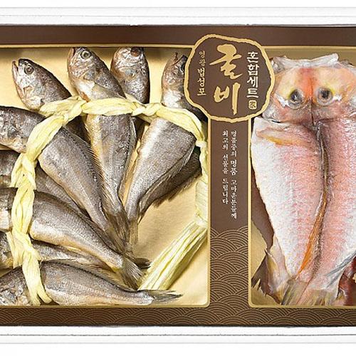 M [해울림] 영광굴비옥돔 혼합세트 3호 선물세트 (영광굴비 20미(1.8kg/19~20cm) 제주옥돔 5미(800g))