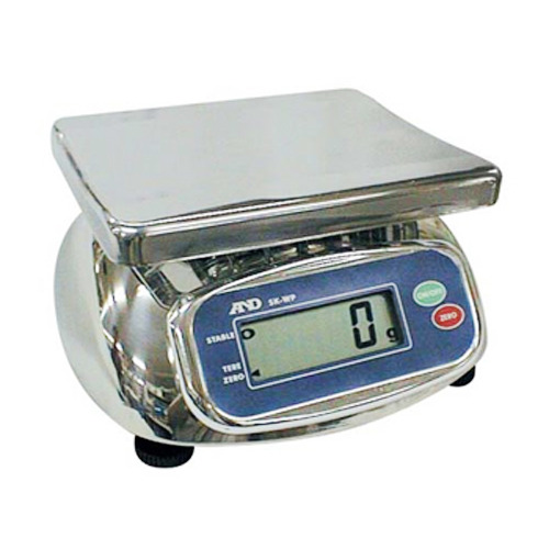 M [AND] 에이엔디 방진방수저울 WP-5K(2g~5kg)/디지털저울/측량저울/계량측정/무게측정/전자저울/IP-65등급의 방수 전자저울