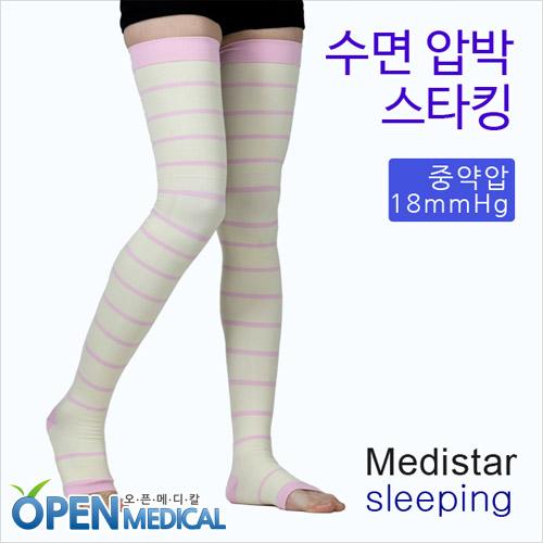 M [MEDISTAR] 메디스타 밴드형 수면압박스타킹 (18mmHg)