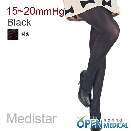 M [MEDISTAR] 메디스타 패션 압박스타킹 팬티형/검정 (중약압 15~20mmHg)