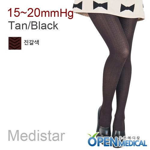M [MEDISTAR] 메디스타 패션 압박스타킹 팬티형/짙은갈색 (중약압 15~20mmHg)
