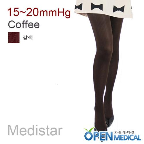 M [MEDISTAR] 메디스타 패션 압박스타킹 팬티형/갈색(중약압 15~20mmHg)