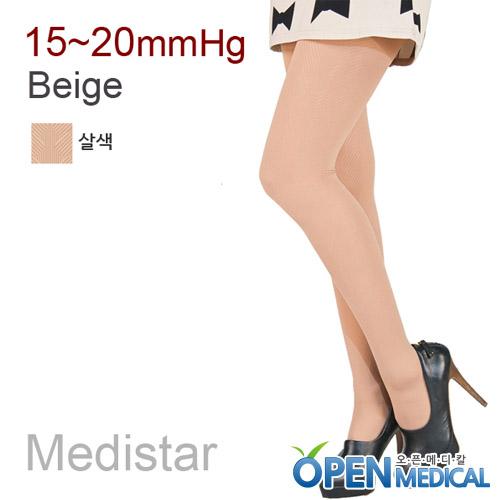 M [MEDISTAR] 메디스타 패션 압박스타킹 팬티형/살색 (중약압 15~20mmHg)