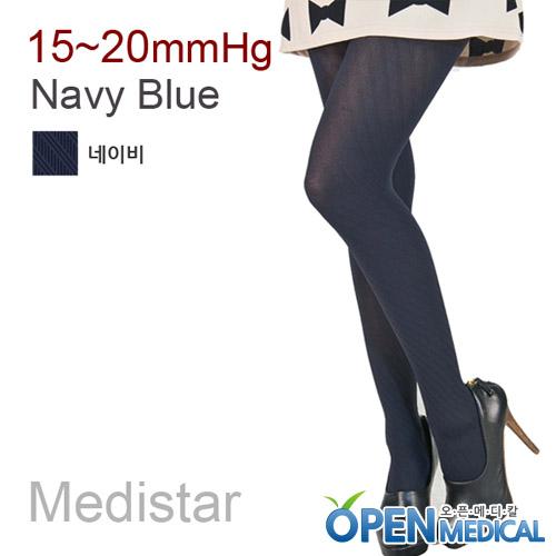 M [MEDISTAR] 메디스타 패션 압박스타킹 팬티형/네이비 (중약압 15~20mmHg)