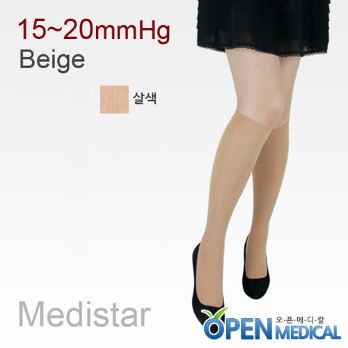 M [MEDISTAR] 메디스타 패션 압박스타킹 무릎형/살색 (중약압 15~20mmHg)