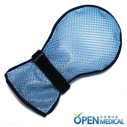 M [묶음상품: 100개][MOLE] 치매환자 손보호 안전장갑/치매장갑 (파랑)