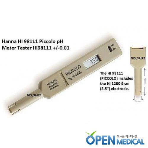 M [HANNA] 한나 휴대용 산도측정계(pH Meter) HI-98111 (pH/Temp)