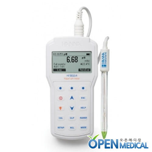 M [HANNA] 한나 요쿠르트전용 산도측정계(pH Meter) HI-98164 (pH/Temp)