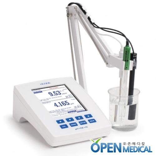 M [HANNA] 한나 산도측정계(pH Meter) HI-5522 (pH/EC/mV/Temp/USB) - mV 센서별도