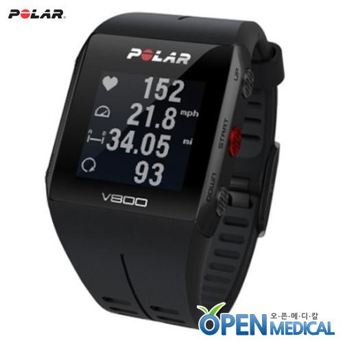 M [POLAR] 폴라 웨어러블 스마트밴드 V800 (Black/Gray) - Smart Coaching and GPS for peak performance