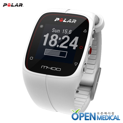 M [POLAR] 폴라 웨어러블 스마트밴드 M400 (White) - A Stylish GPS Activity Tracking Watch