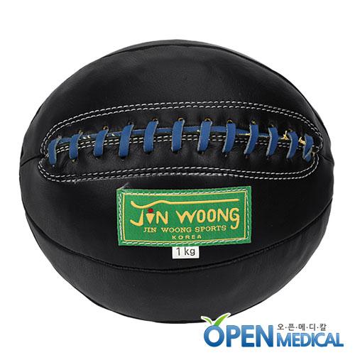 M [JINWOONG] 진웅 가죽 메디신볼 블랙 - 1kg