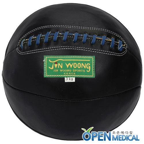 M [JINWOONG] 진웅 가죽 메디신볼 블랙 - 3kg