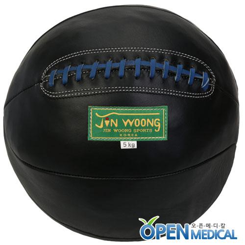 M [JINWOONG] 진웅 가죽 메디신볼 블랙 - 5kg