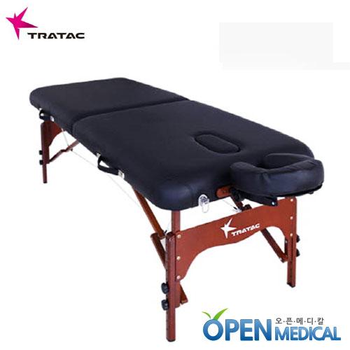 M [TRATEC] 트라택 휴대용 접이식 마사지베드 (우드타입) - 1850x700x620~870mm