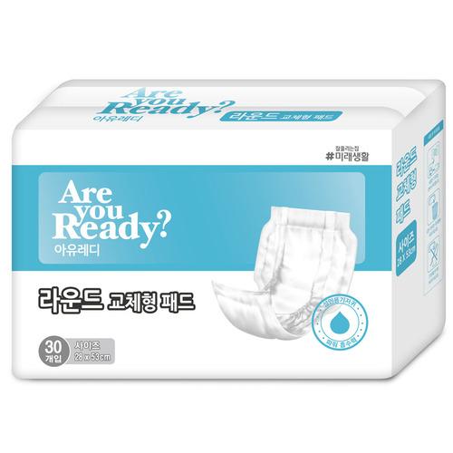 M [미래생활] 아유레디 성인용기저귀 라운드 교체형패드 1박스 (300매입)