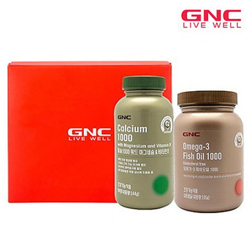 M [GNC] 혈행건강 오메가-3 칼슘2종세트
