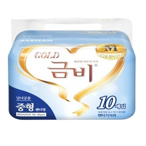 M [금비] 성인용기저귀 금비 골드 언더웨어 중형 (80매입)