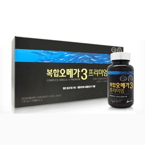 M [JW중외제약] 중외 복합 오메가3 플러스 (1,100mg x 30캡슐) - 120일분