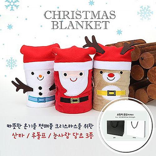M Christmas Character 크리스마스 무릎담요/쇼핑백 증정