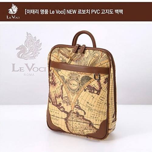 M [Le Voci] NEW 르보치 PVC 고지도 백팩