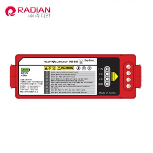 M [RADIAN] 라디안 제세동기 배터리 BT-303S (HR-501전용)