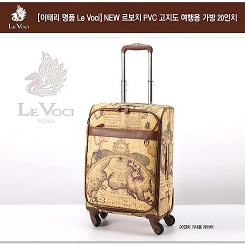 M [Le Voci] NEW 르보치 PVC 고지도 기내용 가방 20인치(4바퀴 채용)