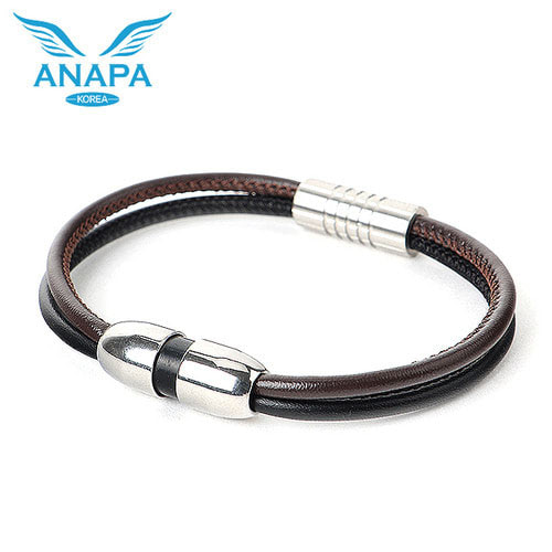 M [ANAPA] 아나파 미세전류 팔찌(양가죽/브라운블랙)
