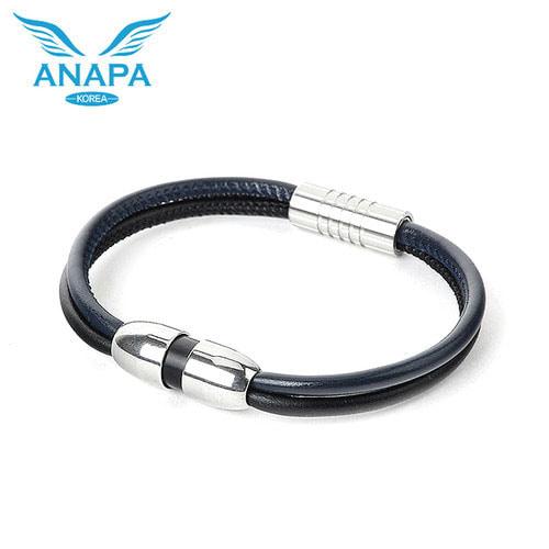M [ANAPA] 아나파 미세전류 팔찌(양가죽/네이비블랙)